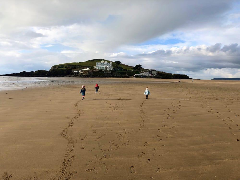 The walk across Burgh Island