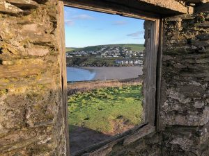 The view from the top of Burgh Island